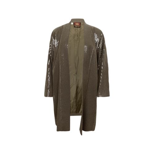 Anne Klein Brown Sequin Jacket