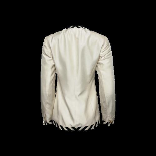 White Blazer w/ Black and Gold Accents