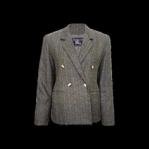 Burberry Grey Tweed Blazer