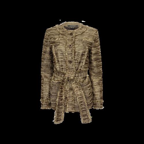 Ellen Tracy Gold Tweed Shimmer Jacket