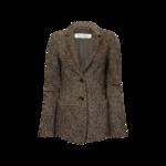 Brown Wool Tweed Blazer