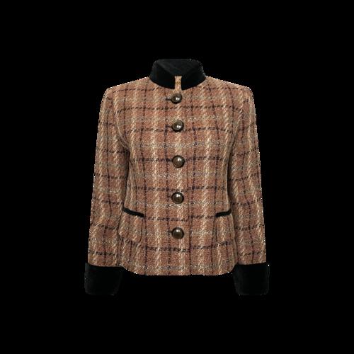 Louis Feraud Multi-Color Wool Tweed Blazer