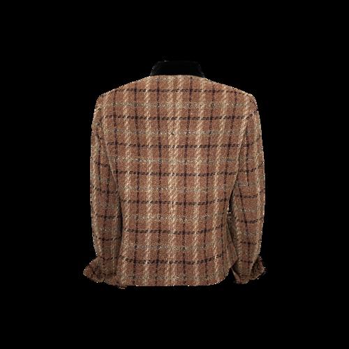 Multi-Color Wool Tweed Blazer