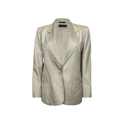 Vintage Harvé Bernard Cream Silk Blazer