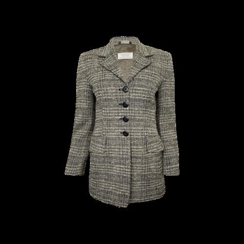 Vintage Gianfranco Ebeyer Grey Wool Tweed Blazer