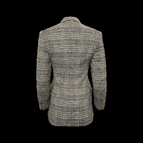 Gianfranco Ebeyer Grey Wool Tweed Blazer