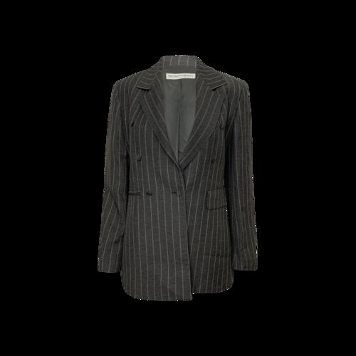 Emporio Armani Grey Striped Blazer