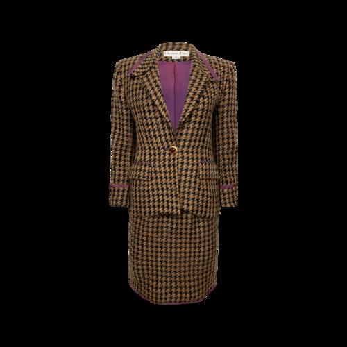 Dior Tweed 2-Piece Skirt and Jacket Suit Set