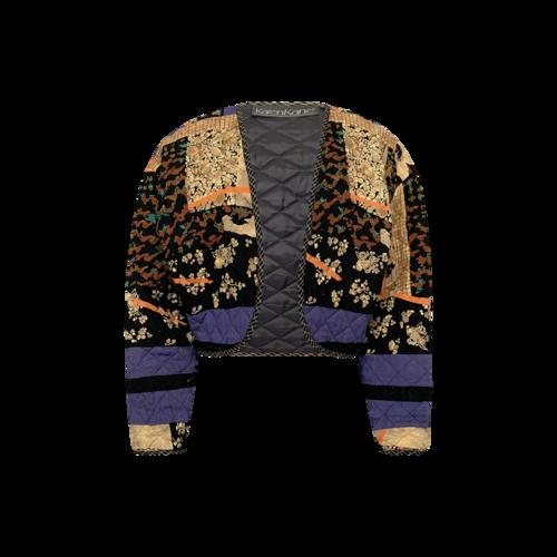 Vintage Karen Kane Multi Quilted Patchwork Jacket
