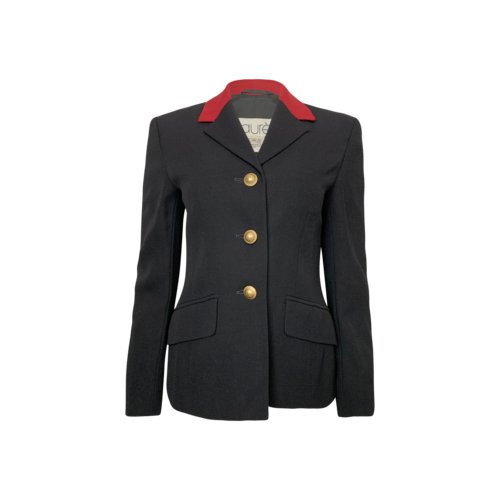 Laurel Black and Red Blazer w/ Gold Buttons