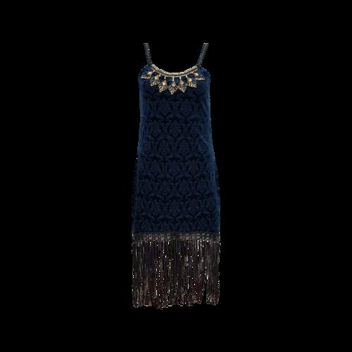 Costumes Blue 1920s Flapper Costume Fringe Dress
