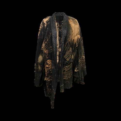 h.NAOTO Black Avant-Garde Kimono Cardigan