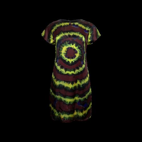 Rodarte Multi Silk Tie-Dye Dress