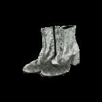 Silver Velvet Booties