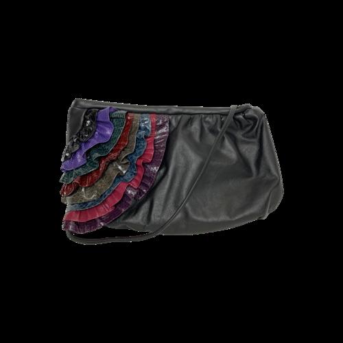 Vintage Diana for Mylinka Black Ruffle Bag
