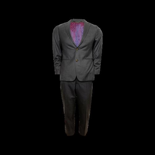 Custom Made Grey Custom Indochino Two-Piece Suit Set