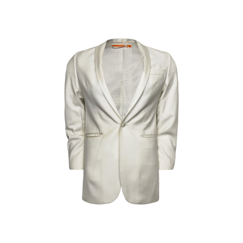 Lord & Taylor White Slim Fit Dinner Jacket