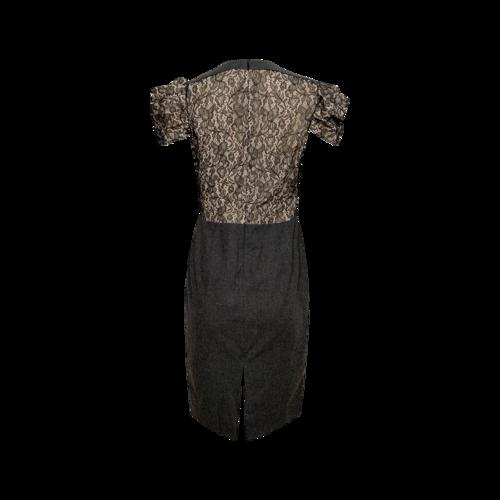 Black Crepe Dress w/ Lace Bodice