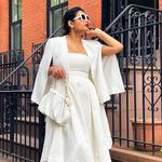 """White """"Making Waves"""" Strapless High-Low Dress"""