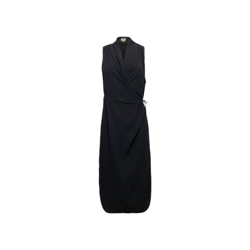 Wilfred by Aritzia Black Wrap Dress