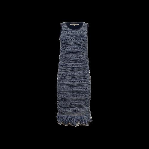 Rachel Roy Blue Knit Fringe Dress