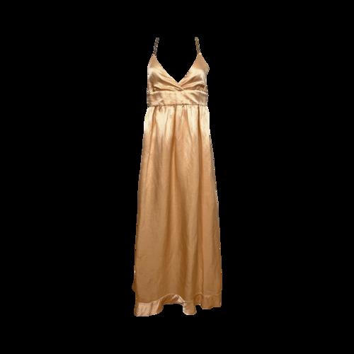 Cynthia Rowley Peach Back Criss-Cross Chain Dress