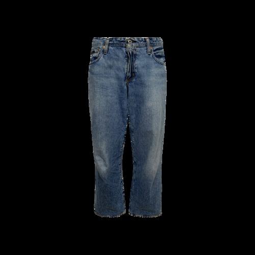 Ralph Lauren Blue Cropped Wide Leg Jeans