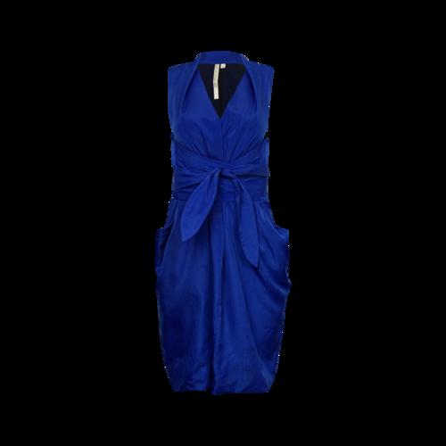 Rachel Roy Royal Blue Tie Waist Trapeze Dress