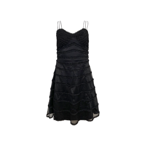 Betsey Johnson Vintage Black Tiered Multi Strap Dress