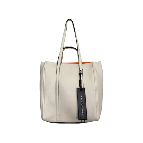 """Marc Jacobs Porcelain White """"The Tag Tote 27"""" Bag"""