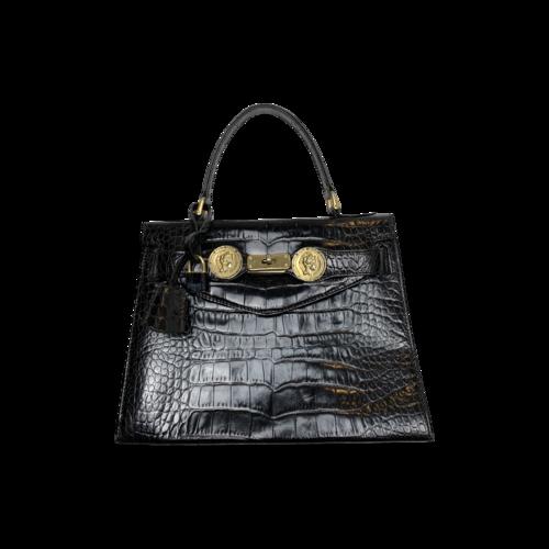 Vintage Black Luciano Soprani Leather Purse