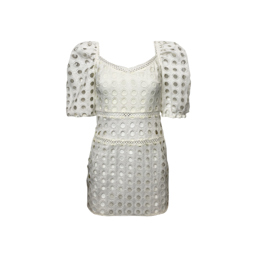 Lovers and Friends White Eyelet Puff Sleeve Dress