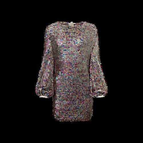 "Retrofête Multi-Color Sequin ""Tara"" Balloon Sleeve Dress"