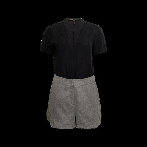 Maje Grey Tweed Shorts Romper