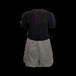 Grey Tweed Shorts Romper