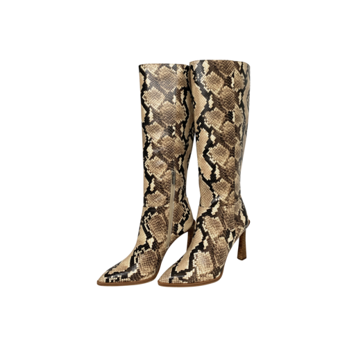 Vince Camuto Snakeskin Print Knee High Boots