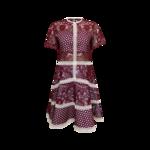 "Red Burgundy ""Rustikan"" Crochet Dress"
