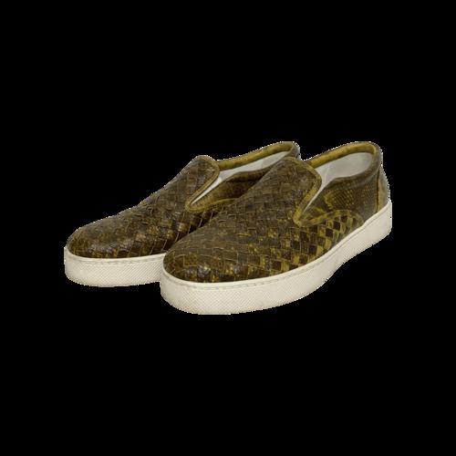 "Bottega Veneta Brown ""Intrecciato"" Slip-On Shoes"