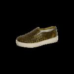 "Brown ""Intrecciato"" Slip-On Shoes"