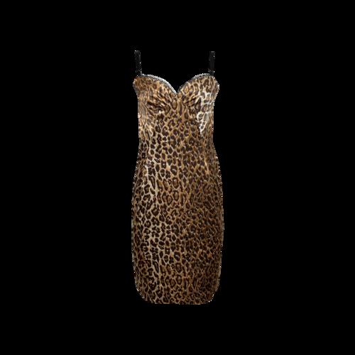 Dolce & Gabbana Leopard Print Bodycon Boudoir Dress