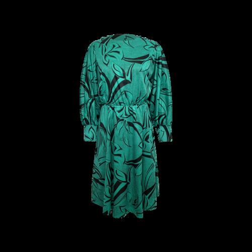 Vintage Green Vintage Printed Dress