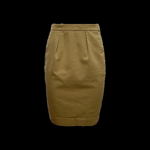 Yves Saint Laurent Tan Pencil Skirt