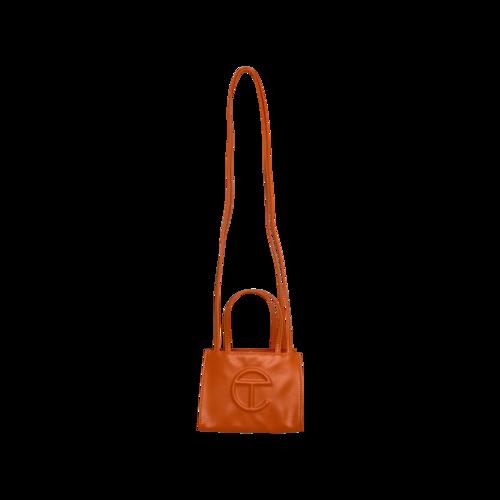 Telfar OG Orange Small Shopper Bag