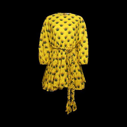 "Rhode Yellow ""Ella"" Cacti Print Dress"