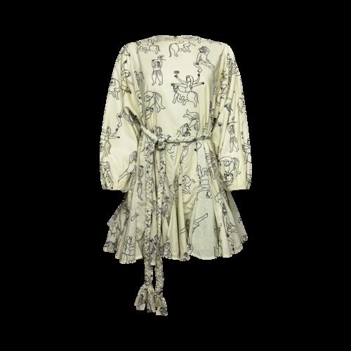 "Rhode Resort ""Ella"" Dress in Goddess & Animal Print"
