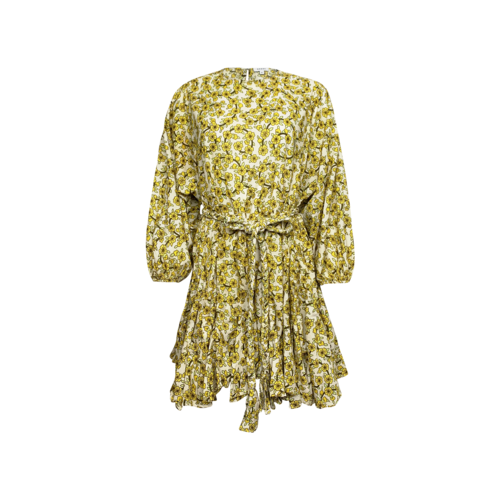 "Rhode Resort Yellow ""Ella"" Floral Print Dress"