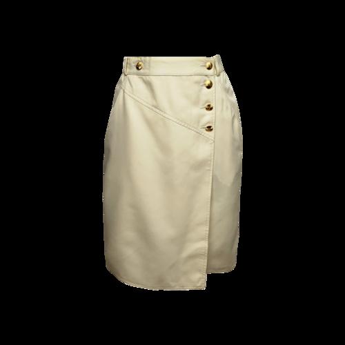 CHANEL Vintage Cream High Waisted Skirt