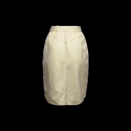 Vintage Cream High Waisted Skirt