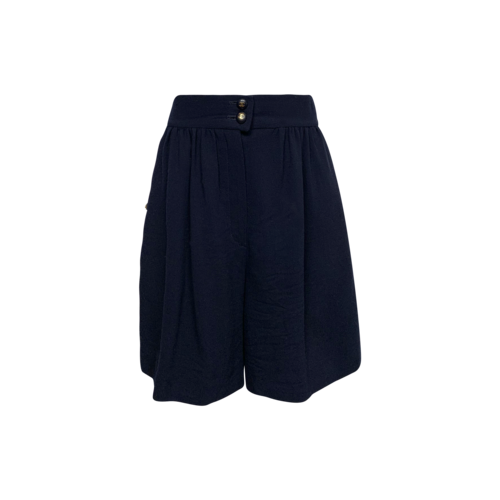 CHANEL Navy Blue Vintage High Waisted Shorts