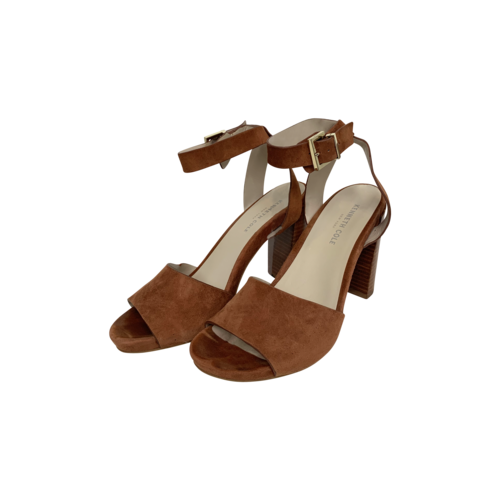 Kenneth Cole Brown Suede Ankle Strap Sandals